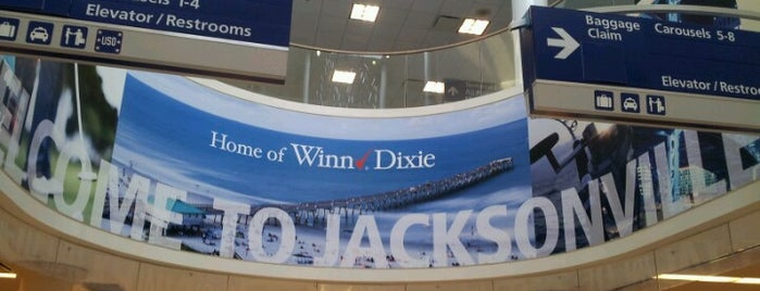 Jacksonville International Airport (JAX) is one of Airports.