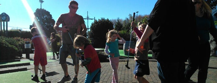 Pirates Island Mini-golf is one of Fun Group Activites around New Zealand.