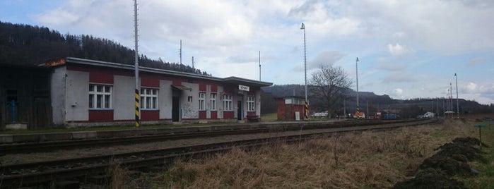 Železniční stanice Heřmánky is one of Železniční stanice ČR: H (3/14).