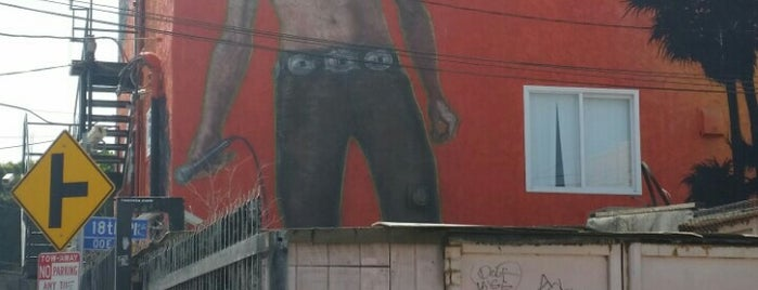 Jim Morrison Mural is one of Venice.