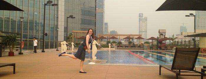 Sheraton Guangzhou Hotel 广州喜来登酒店 is one of Mon Carnet de bord.