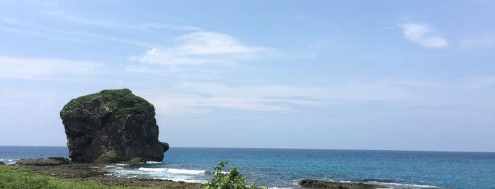 船帆石 Chuanfan Rock is one of Kenting.