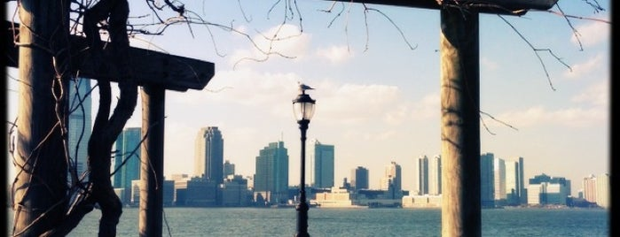 Battery Park City Esplanade is one of NYC SCENERY by the water.