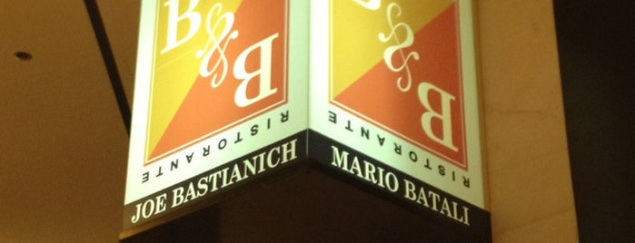 B & B Ristorante is one of Mario Batali.