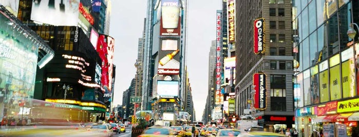 Times Square is one of Lufthansa's tips.