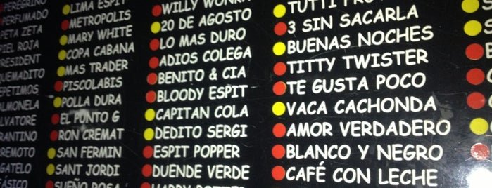 Espit Chupitos is one of Out for a drink in Barna.