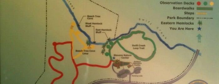 Hemlock Bluffs Nature Preserve is one of Raleigh's Best Parks, Greenways & Gardens.