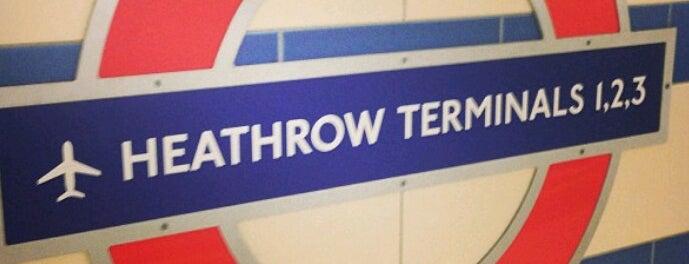 Heathrow Airport Terminals 1, 2 & 3 London Underground Station is one of Tube Challenge.