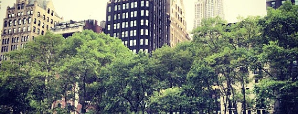 Bryant Park is one of Wi-Fi in NYC Parks.
