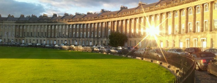 The Royal Crescent is one of 36 hours in...Bath.