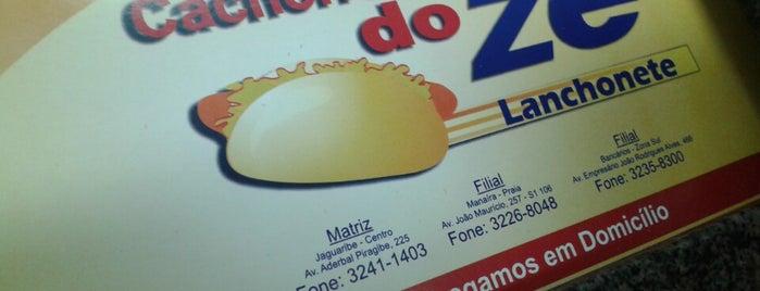Cachorro Quente do Zé is one of Restaurantes e Lanchonetes (Food) em João Pessoa.