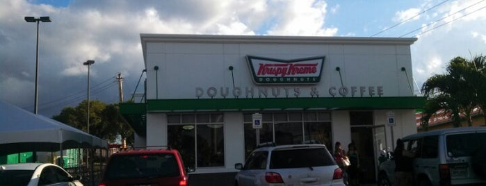 Krispy Kreme is one of Donde pecar.