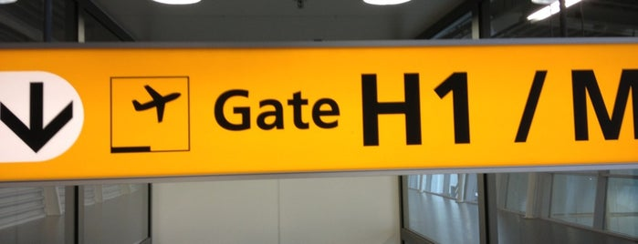 Gate H1 is one of Travel.