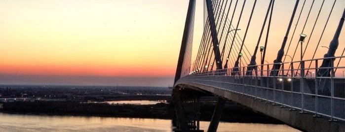Arthur Ravenel Jr Bridge is one of my charleston places.