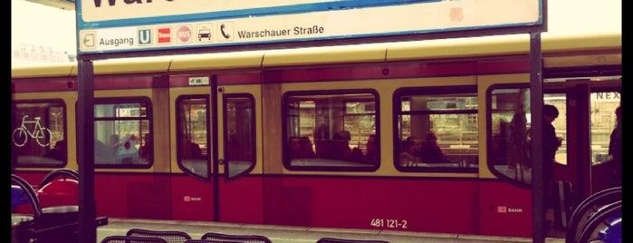 S+U Warschauer Straße is one of Besuchte Berliner Bahnhöfe.