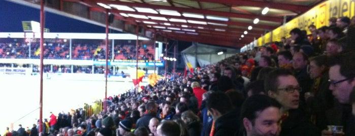 AFAS Stadion Achter De Kazerne is one of Jupiler Pro League and Belgacom League - 2013-2014.