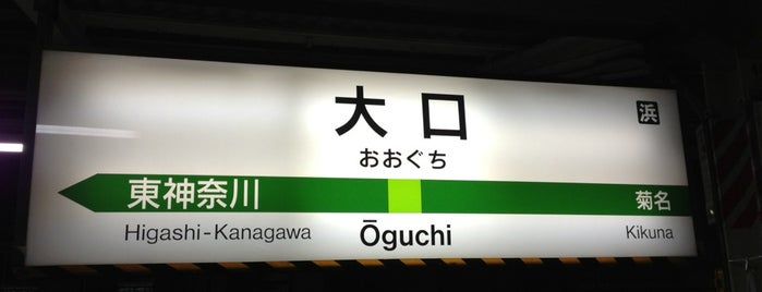 大口駅 (Ōguchi Sta.) is one of 横浜線.