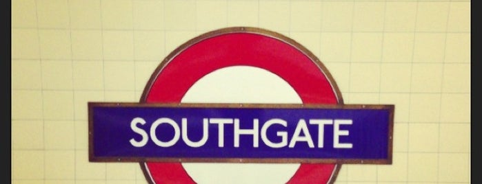 Southgate London Underground Station is one of Tube Challenge.