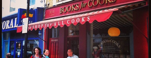 Books For Cooks is one of London to-do.