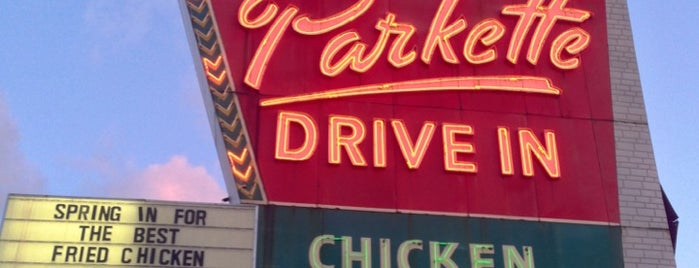 The Parkette Drive-In is one of DINERS DRIVE-INS & DIVES.