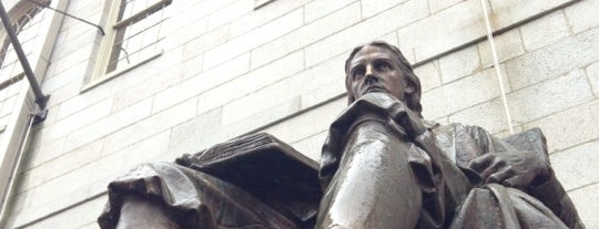 John Harvard Statue is one of B. Locations.