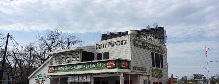 Dirty Martin's Place is one of Hook 'Em Horns- Austin.