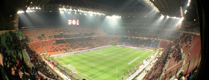 "Stadio San Siro ""Giuseppe Meazza"" is one of UEFA Champions League finals."
