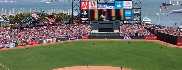 AT&T Park is one of San Fran.