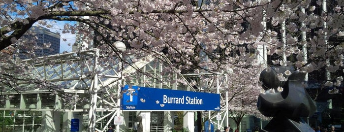Burrard SkyTrain Station is one of translink.