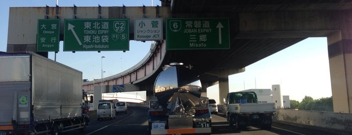 首都高 小菅JCT is one of 首都高6号向島線・三郷線.