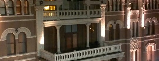 The Driskill is one of Hook 'Em Horns- Austin.