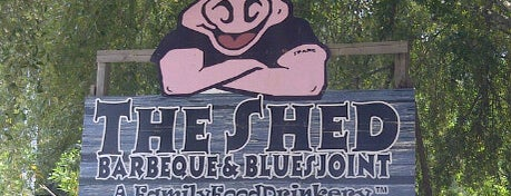 The Shed Barbeque and Blues Joint is one of Man vs. Food Nation - Gulf Coast.