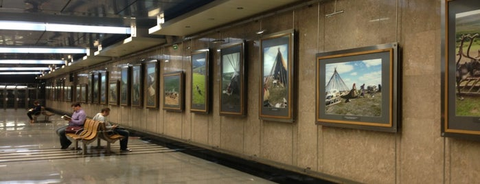 Метро Выставочная (metro Vystavochnaya) is one of Complete list of Moscow subway stations.