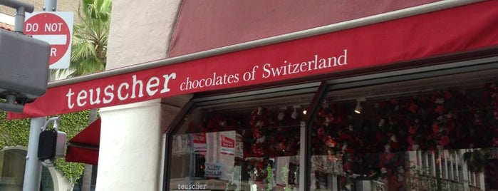 Teuscher Chocolates & Cafe is one of My favorite cafes of West Los Angeles.