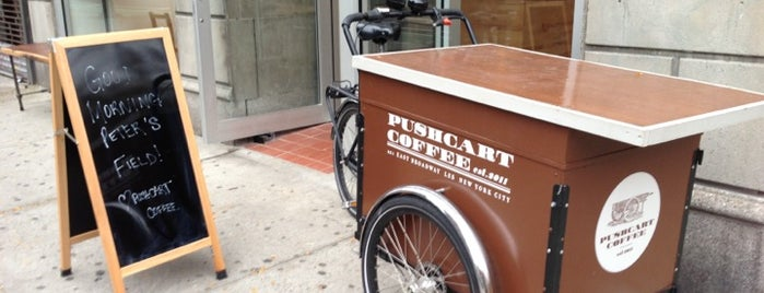 Pushcart Coffee is one of NYC coffee.