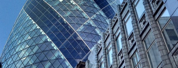 30 St Mary Axe (The Gherkin) is one of London.