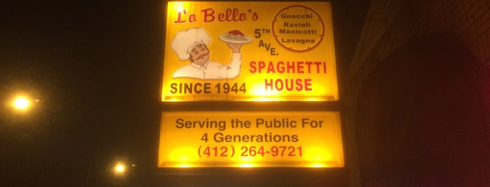 LoBello's Spaghetti House is one of DINERS DRIVE-IN & DIVES 3.