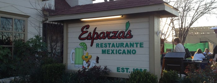 Esparza's is one of My Great Eats List.