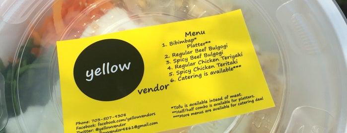 Yellow Vendor (Yellow Bulgogi Cart) is one of DC's Best Food Trucks.