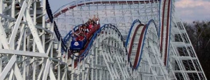 The Great American Scream Machine is one of ROLLER COASTERS.