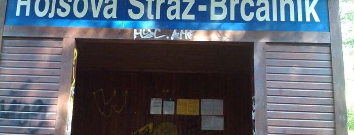 Železniční zastávka Hojsova Stráž-Brčálník is one of Železniční stanice ČR: H (3/14).