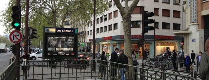 Métro Les Sablons [1] is one of Stations de metro a Paris.