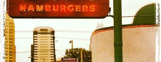 Hut's Hamburgers is one of 26 Most Reviewed Austin Places on Fondu.