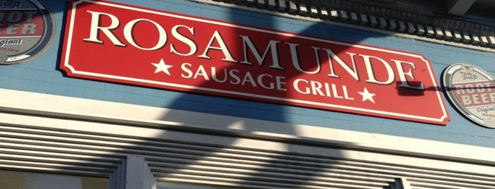 Rosamunde Sausage Grill is one of Yums.