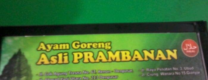 Ayam Goreng Asli Prambanan is one of Fried Check-in Badge in Bali.
