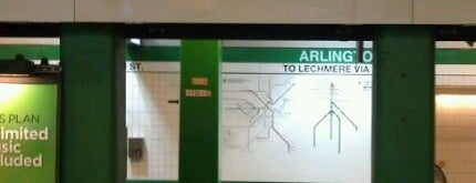 MBTA Arlington Station is one of Boston MBTA Stations.