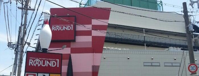 ラウンドワン 茨木店 is one of 関西のゲームセンター.