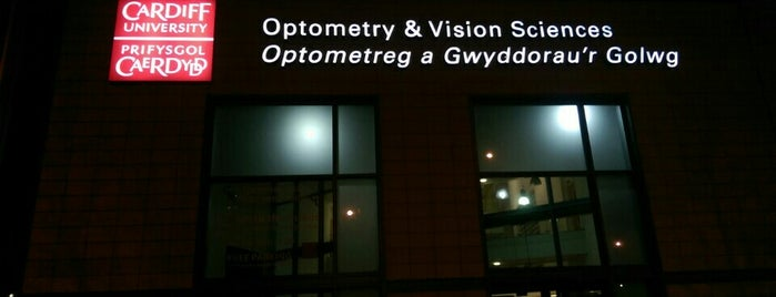 Cardiff University School of Optometry & Vision Sciences is one of Inspired locations of learning.