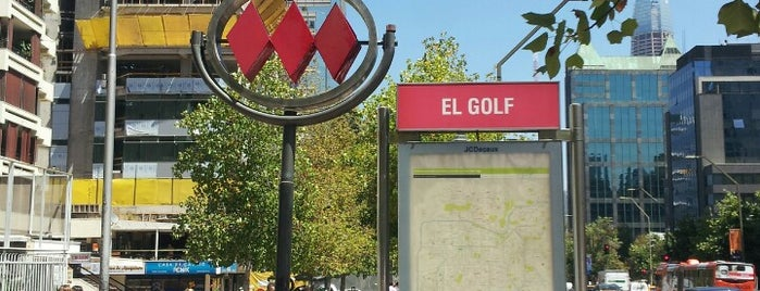 Metro El Golf is one of Chile.