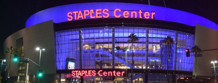 STAPLES Center is one of I'm in L.A. you trick!.